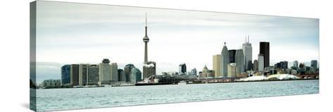 Skyscrapers at the Waterfront, Cn Tower, Toronto, Ontario, Canada--Stretched Canvas Print