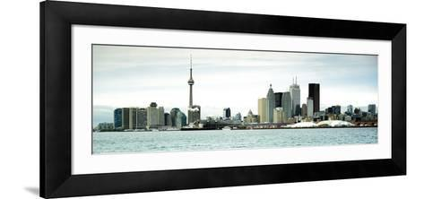 Skyscrapers at the Waterfront, Cn Tower, Toronto, Ontario, Canada--Framed Art Print
