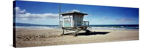 Lifeguard Hut on the Beach, 8th Street Lifeguard Station, Manhattan Beach, Los Angeles County, C...--Stretched Canvas Print