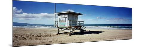 Lifeguard Hut on the Beach, 8th Street Lifeguard Station, Manhattan Beach, Los Angeles County, C...--Mounted Photographic Print