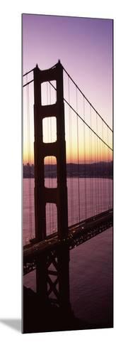 Suspension Bridge at Sunrise, Golden Gate Bridge, San Francisco Bay, San Francisco, California, USA--Mounted Photographic Print