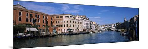Bridge across a Canal, Rialto Bridge, Grand Canal, Venice, Veneto, Italy--Mounted Photographic Print