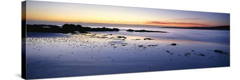 Beach at Sunrise, Jeanneret Beach, Bay of Fires National Park, Tasmania, Australia--Stretched Canvas Print