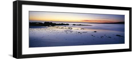 Beach at Sunrise, Jeanneret Beach, Bay of Fires National Park, Tasmania, Australia--Framed Art Print