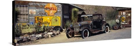 Abandoned Vintage Car at the Roadside, Route 66, Arizona, USA--Stretched Canvas Print