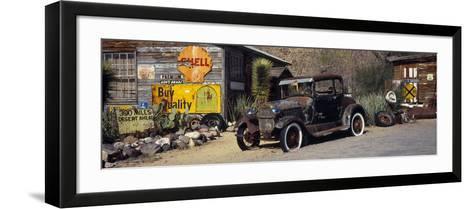 Abandoned Vintage Car at the Roadside, Route 66, Arizona, USA--Framed Art Print