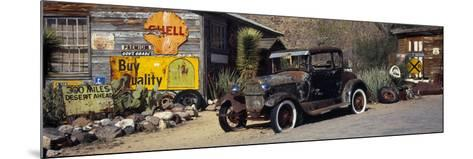 Abandoned Vintage Car at the Roadside, Route 66, Arizona, USA--Mounted Photographic Print