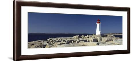 Lighthouse at the Coast, Peggy's Point Lighthouse, Peggy's Cove, Halifax Regional Municipality, ...--Framed Art Print