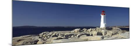 Lighthouse at the Coast, Peggy's Point Lighthouse, Peggy's Cove, Halifax Regional Municipality, ...--Mounted Photographic Print