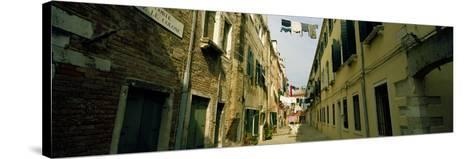 Alleyway with Hanging Laundry, Castello, Venice, Veneto, Italy--Stretched Canvas Print