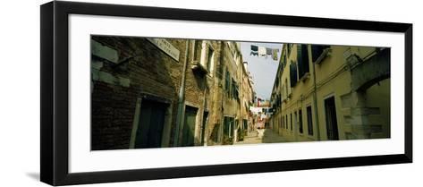 Alleyway with Hanging Laundry, Castello, Venice, Veneto, Italy--Framed Art Print