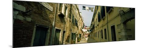 Alleyway with Hanging Laundry, Castello, Venice, Veneto, Italy--Mounted Photographic Print