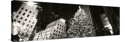 Christmas Tree Lit Up at Night, Rockefeller Center, Manhattan, New York City, New York State, USA--Stretched Canvas Print