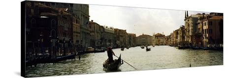 Gondolas in the Canal, Grand Canal, Venice, Veneto, Italy--Stretched Canvas Print