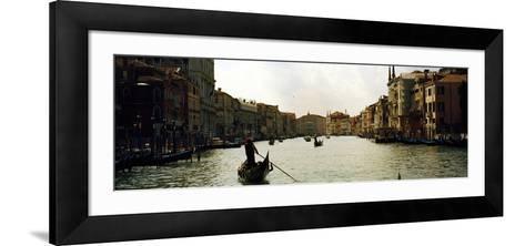 Gondolas in the Canal, Grand Canal, Venice, Veneto, Italy--Framed Art Print