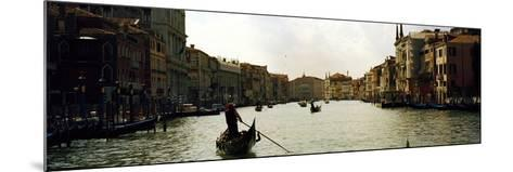 Gondolas in the Canal, Grand Canal, Venice, Veneto, Italy--Mounted Photographic Print