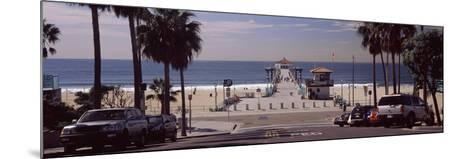 Pier over an Ocean, Manhattan Beach Pier, Manhattan Beach, Los Angeles County, California, USA--Mounted Photographic Print