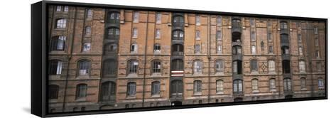 Low Angle View of Warehouses in a City, Speicherstadt, Hamburg, Germany--Framed Canvas Print