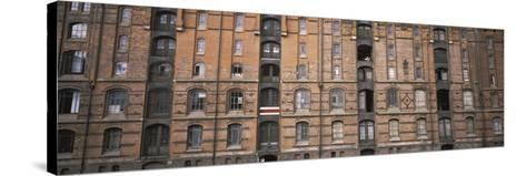 Low Angle View of Warehouses in a City, Speicherstadt, Hamburg, Germany--Stretched Canvas Print