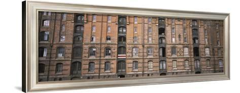 Low Angle View of Warehouses in a City, Speicherstadt, Hamburg, Germany--Framed Art Print
