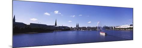 Buildings at the Waterfront, Alster Lake, Hamburg, Germany--Mounted Photographic Print