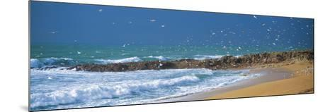Waves Breaking on the Coast, Morbihan, Brittany, France--Mounted Photographic Print