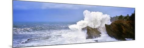 Waves Breaking on the Coast, Shore Acres State Park, Oregon, USA--Mounted Photographic Print