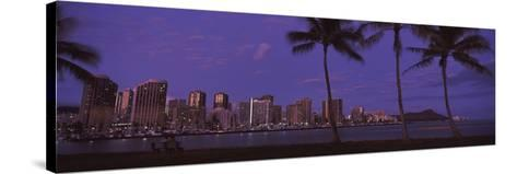 Skyscrapers at the Waterfront, Honolulu, Hawaii, USA 2010--Stretched Canvas Print
