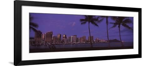 Skyscrapers at the Waterfront, Honolulu, Hawaii, USA 2010--Framed Art Print