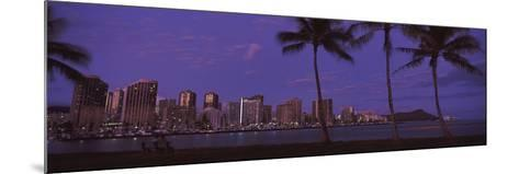 Skyscrapers at the Waterfront, Honolulu, Hawaii, USA 2010--Mounted Photographic Print