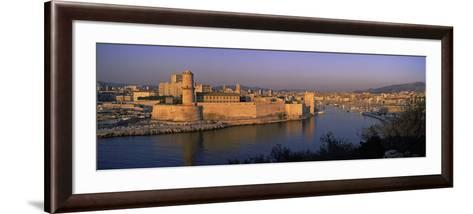 Fort at the Seaside, Fort Saint-Jean, Marseille, Bouches-Du-Rhone, Provence-Alpes-Cote D'Azur, F...--Framed Art Print