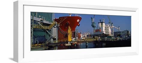 Hanjin Heavy Industries and Construction Shipyard, Busan, South Korea--Framed Art Print