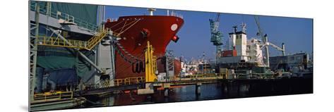 Hanjin Heavy Industries and Construction Shipyard, Busan, South Korea--Mounted Photographic Print
