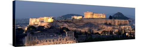 Ruins of a Temple, Athens, Attica, Greece--Stretched Canvas Print