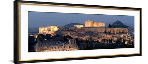 Ruins of a Temple, Athens, Attica, Greece--Framed Art Print