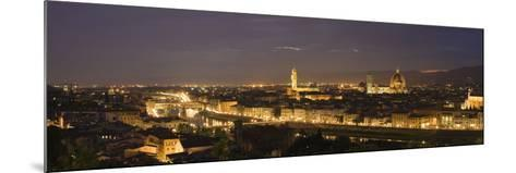 Buildings in a City, Ponte Vecchio, Arno River, Duomo Santa Maria Del Fiore, Florence, Tuscany, ...--Mounted Photographic Print
