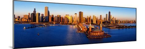 Sunrise at Navy Pier, Lake Michigan, Chicago, Cook County, Illinois, USA--Mounted Photographic Print
