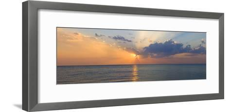 Sunset over Gulf of Mexico from Venice, Sarasota County, Florida, USA--Framed Art Print