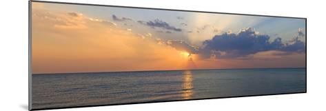Sunset over Gulf of Mexico from Venice, Sarasota County, Florida, USA--Mounted Photographic Print