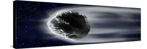 Comet in Space--Stretched Canvas Print