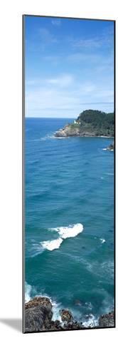 Island in the Pacific Ocean, Heceta Head Light, Oregon Coast, Oregon, USA--Mounted Photographic Print