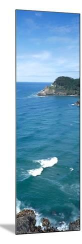 Island in the Pacific Ocean, Heceta Head Light, Oregon Coast, Oregon, USA--Mounted Photographic Print