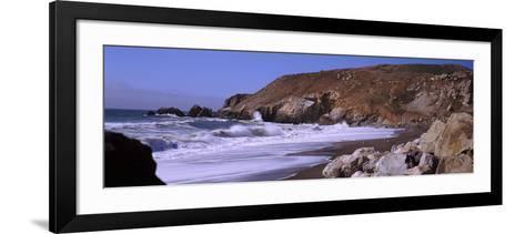 Surf on the Coast, Pacifica, San Mateo County, California, USA--Framed Art Print