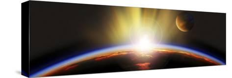 Sunrise over Earth--Stretched Canvas Print