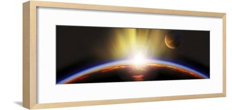 Sunrise over Earth--Framed Art Print
