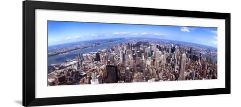 Skyscrapers in a City, Manhattan, New York City, New York State, USA 2011--Framed Art Print