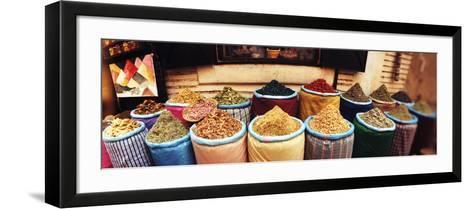 Spice Market Inside the Medina in Marrakesh, Morocco--Framed Art Print