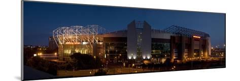Football Stadium Lit Up at Night, Old Trafford, Greater Manchester, England--Mounted Photographic Print