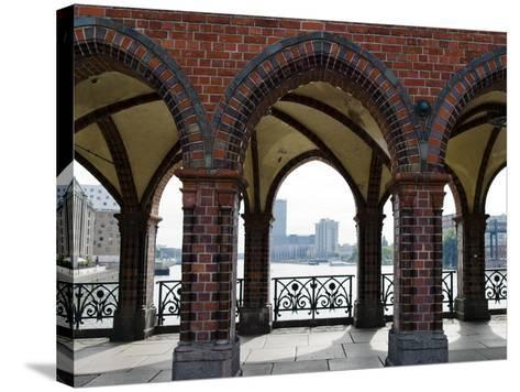 Arcade of a Bridge, Oberbaumbruecke, Spree River, Berlin, Germany--Stretched Canvas Print