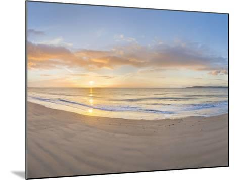 Sunrise over the Sea, Tenby, Pembrokeshire, Wales--Mounted Photographic Print